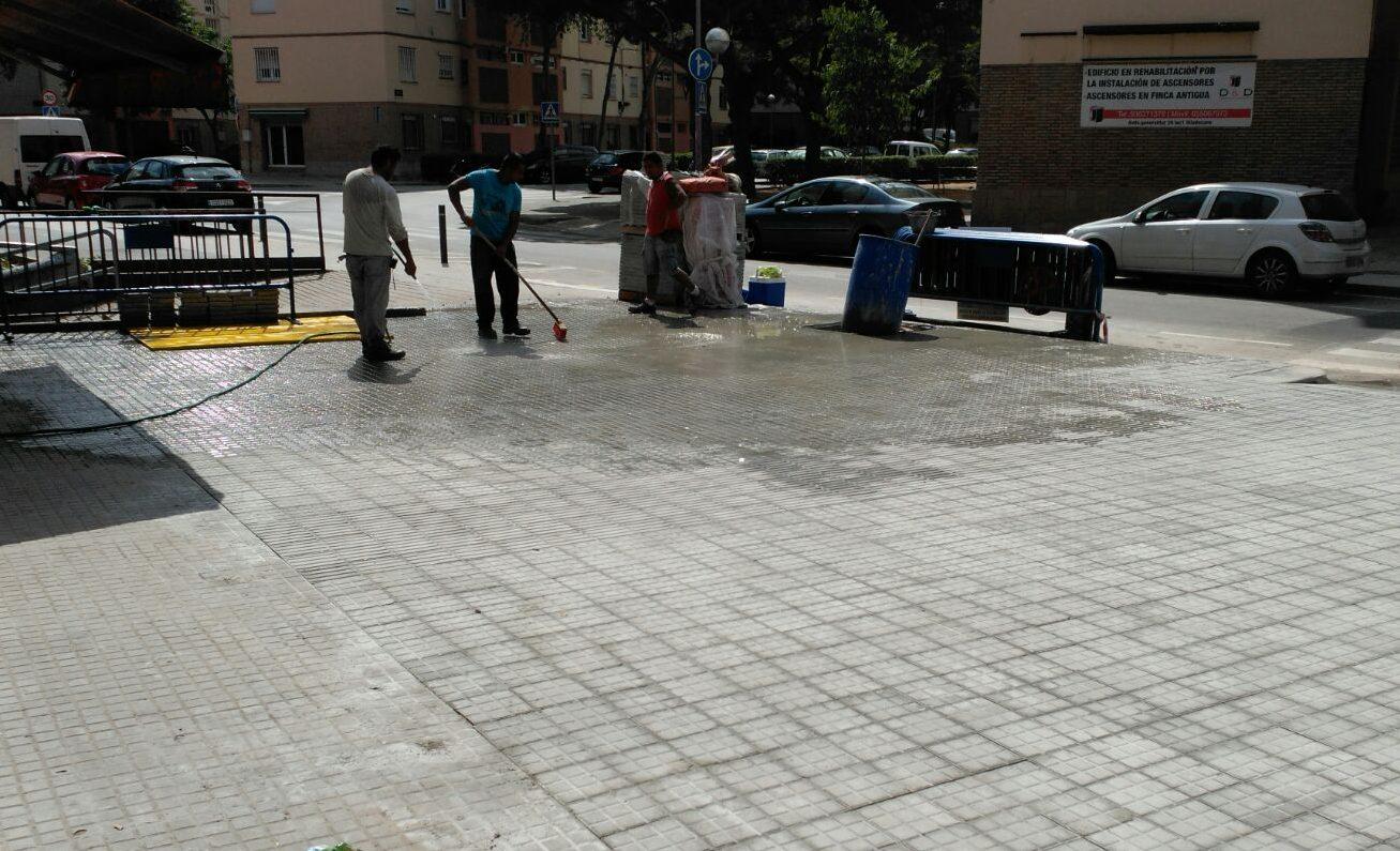 Pavimento, limpieza de panot